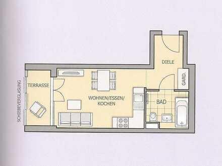 Neuwertige 1-Zimmer-Wohnung mit Garten in Unterschleissheim