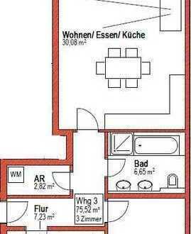 Heidelberg-Kirchheim, 3-Zimmer im 1. OG mit Balkon