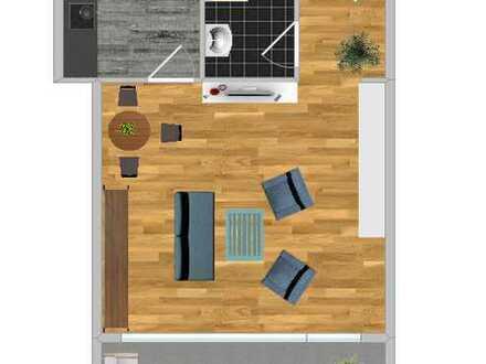 Toll geschnittene 1 -Zimmerwohnung in Plattenwald