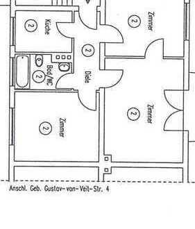 800 €, 64 m², 3 Zimmer