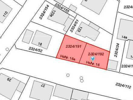 Baugrundstück mit genehmigtem Bauplan für Doppelhaushälften