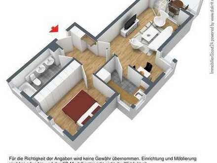 Helle und freundliche 2,5-Zimmer-Wohnung mit Balkon/Wintergarten