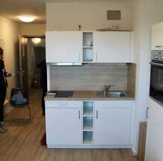 Studio, 22qm, mit Bad, Küche, Fußbodenheizung, komplett eingerichtet