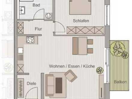 Erstbezug: attraktive 2-Zimmer-Wohnung mit Balkon in Straubing Zentrum
