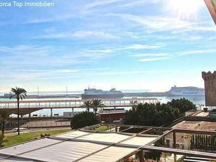 Luxusapartment mit Blick auf den Hafen