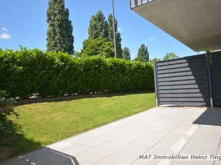 AC-Brand - moderne, schicke Wohnung + Einbauküche + Einbaumöbel + 2 Sonnenterrassen u. Gartenanteil