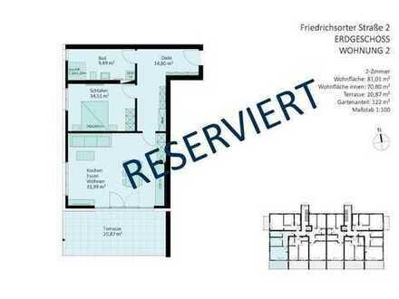 RESERVIERT - 2-Zimmer-Wohnung mit Tageslichtbad und Gartenanteil