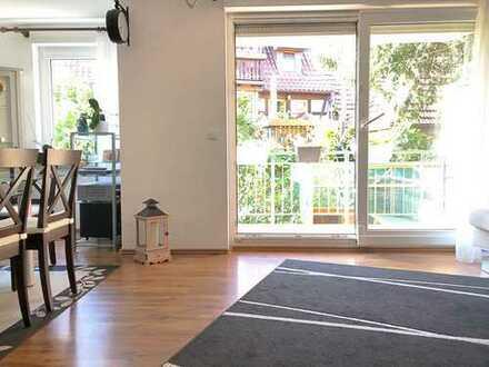 Ruhig gelegene Hochparterre-Maisonette Wohnung mit 2 Balkonen und Gartenanteil in Eglosheim