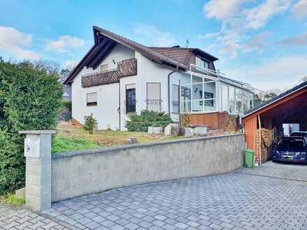 Großzügiges 2FH (ca. 310m²/mietfrei) mit 2 Wohneinheiten, Keller, Garten & Garagen in Krickenbach