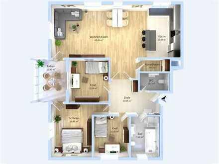 Moderne Architektur und ökologische Nachhaltigkeit! 4-Zimmer-Wohnung mit großzügigem Wohnbereich