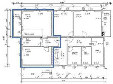 Vollständig renovierte helle und geräumige 2-Zimmer-Wohnung mit Balkon in Augsburg