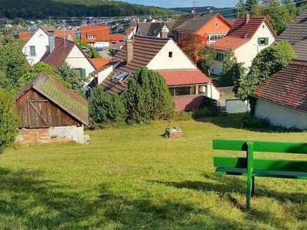 Sehr schönes Hanggrundstück mit Altbestand in ruhiger Lage in Krumbach