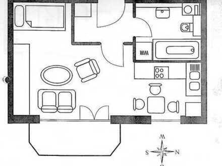 Helle, gepflegte 1-Zimmer-Wohnung mit Balkon und Einbauküche in Erding