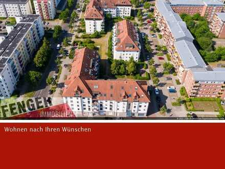 Pfiffig geschnittene und absolut ruhige 2 Zimmer-Wohnung in Paunsdorf