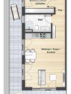2 Zimmer Penthaus mit Dachterrasse + KFW FÖRDERUNG
