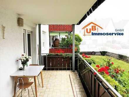 Schöne, ruhig gelegene 3 Zi. EG-Wohnung mit großem Balkon - Benningen