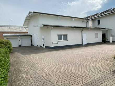 Gewerbehalle (ca. 200 qm), Geschäftshaus (ca. 480 qm) mit Wohnhaus (ca. 310 qm) zu verkaufen