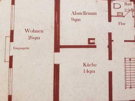 Geräumige, helle 1,5-Zimmer-Wohnung zur Miete in Tübingen-Bühl