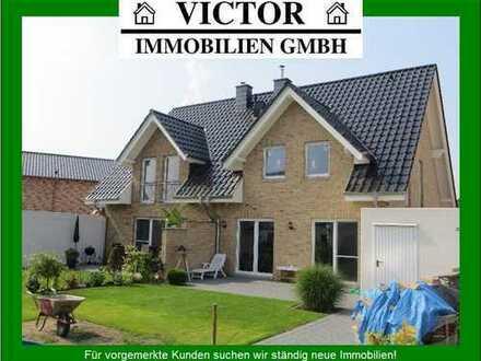 Ihr geräumigen Doppelhaus - massiver Neubau auf 354 m² Grundstück