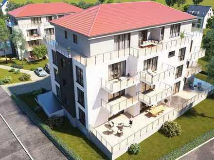 Neubauwohnung im Erdgeschoss (Hochparterre) mit sonniger Terrasse. Behindertengerecht