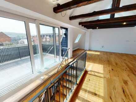 Moderne Maisonette-Wohnung mit Dachterrasse am Diezer Marktplatz! Erstbezug nach Sanierung!