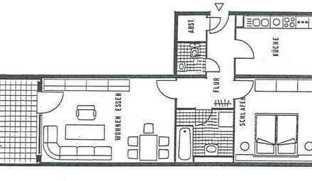 Schöne, geräumige zwei Zimmer Wohnung in Heidelberg, Kirchheim