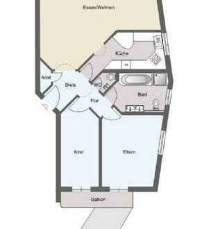 960 €, 90 m², 3 Zimmer