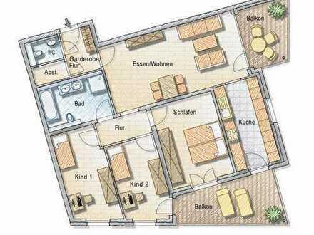 4-Zimmer Wohnung mit toller Aussicht