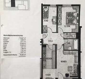 Ansprechende, gepflegte 3,5-Zimmer-Wohnung inkl. Stellplatz und Garage zur Miete in Markdorf