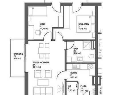 Helle 2-Zimmer im 1. Obergeschoss in Schrobenhausen - Jetzt reservieren!