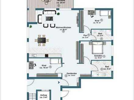 Exklusive 4-Zimmer Terrassenwohnung in fantastischer Feldrandlage in Kriftel, Erstbezug