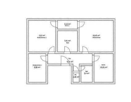 Vollständig renovierte 4-Zimmer-Wohnung mit Balkon und Einbauküche in Öpfingen