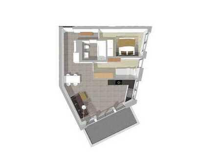 3-Zimmer Wohnung Neubau (1.OG) mit TG in bester Lage (W16)