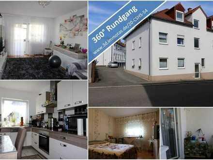 KAPITALANLAGE oder EIGENNUTZUNG -3-Zimmer-Wohnung im 1. Obergeschoss mit Balkon und Kellerraum