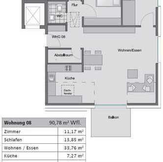 Imposante 3- Zimmerwohnung im Dachgeschoss (Whg 8) - Besichtigung am 16.09., 14-15 Uhr