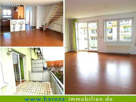 Wohnen wie im Reihenhaus - Charmante 5 ZKB Maisonette-Wohnung mit gr. Balkon, inkl. Doppelgarage