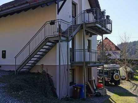 Preiswerte, geräumige und neuwertige 1-Zimmer-Wohnung mit Balkon und schöner Aussicht in Darstein