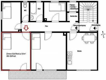 Zimmer in 4er WG (1 Zimmer mit 15,8m² - Pauschalmiete 340€)