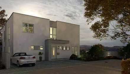 Doppelhaus im Bauhausstil