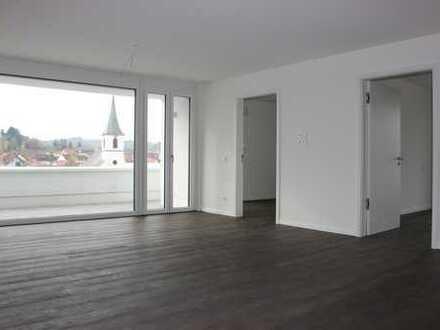 Erstbezug: traumhafte 3-Zimmer-Penthouse-Wohnung mit EBK und Dachterasse in Walzbachtal