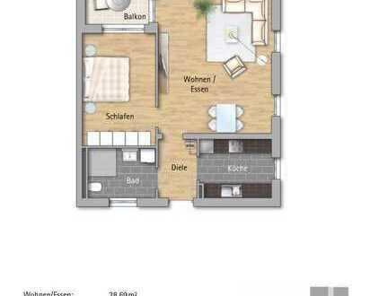 950 €, 64 m², 2 Room(s)
