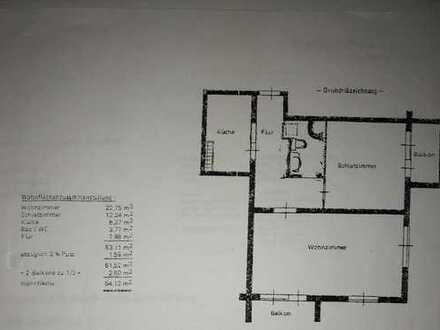 900 €, 54 m², 2 Zimmer