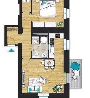 """""""Palais Klingelhöffer"""": Stilvolle 2-Zimmer-Wohnung mit Balkon zur Gartenseite"""