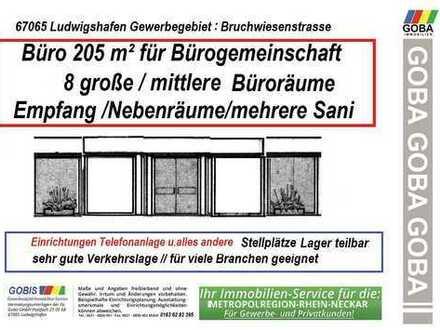 Bürogemeinschaft: 25m² 6-8 Räume Gewerbegebiet Bruchwiesenstrasse Lager Stellplätze