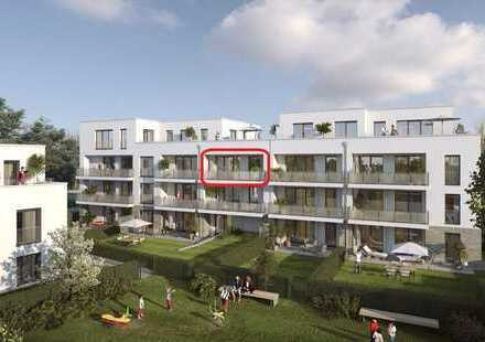Erstbezug: 3 Zimmer Wohnung mit Balkon, TG-Stellplatz und Einbauküche