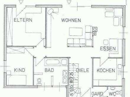 Großzügige 3-Zimmer-Wohnung in ruhiger Lage Walldorfs mit großer Terrasse und Garten