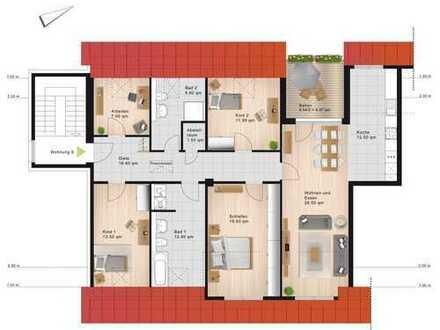Erstbezug - 5-Zimmer-Dachgeschoss-Wohnung mit Dachterrasse im Dichterviertel von Vohwinkel
