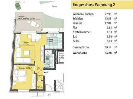 Neuwertige 2 Zimmer Erdgeschosswohnung