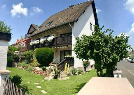 Modernisierte 4,5-Zimmer-Wohnung mit 2 Balkonen und Einbauküche in Aschaffenburg-Leider ab sofort
