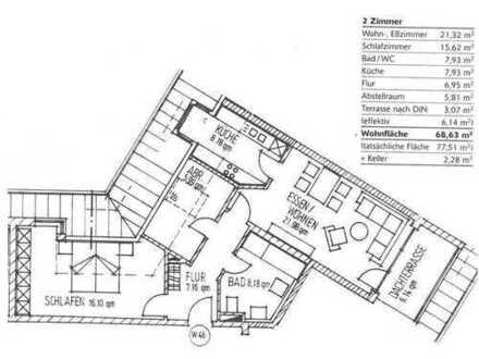 Ruhige und helle 2-Zimmer DG-Wohnung